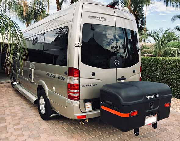 Mercedes Free Spirit Sprinter van with StowAway MAX Cargo Carrier